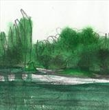 Detail of Study of Bewl Water by Donna Southern Art, Painting, Watercolour and pencil