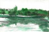 Study of Bewl Water by Donna Southern Art, Painting, Watercolour and pencil